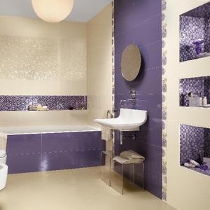 Ванная комната под ключ. Укладка кафеля,  мозайки.